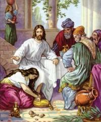 Lc 7,36-50, vangelo della domenica 16-06-2013,la donna peccatrice, la pecctrice asciuga con i suoi capelli i piedi di Gesù, perdonare, ungere il capo di gesù con olio, XI domenica del tempo ordinario, i tuoi peccati sono perdonati.