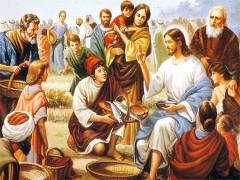 vangelo della domenica 02-06-2013, corpus domini, santissimo corpo e sangue di gesù, vangelo di luca 9,11b-17, santissima eucaristia, amore infinito di dio,sacramento della carità