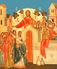 vangelo di domenica 6 novembre 2011,parabola delle vergini sagge e stolte,prepararsi alla venuta di gesù,invitati al banchetto di nozze,il paradiso è come una festa nuziale,vegliare e pregare