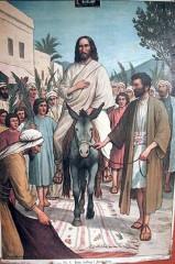 settimana santa, passione del signore, messia, cristo gesù, vangelo del 24/03/2013, passione di nostro signore, gesù entra a gerusalemme, gesù accalmato, rami d'ulivo, commemorazione di gesù in gerusalemme