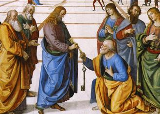 Christ_Handing_the_Keys_to_St._Peter_by_Pietro_Perugino_(crop)