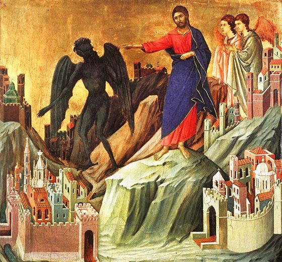 Gesù viene tentato nel deserto